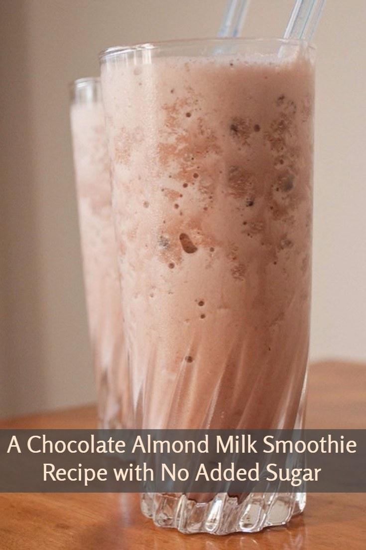 A Chocolate Almond Milk Smoothie Recipe with No Added Sugar