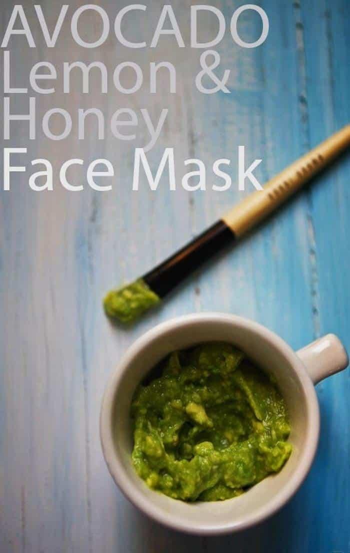 Avocado lemon honey face mask