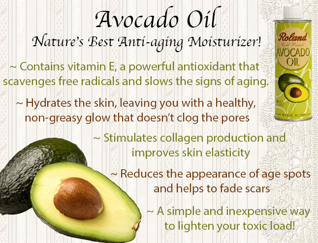 Avocado oil skin moisturizer