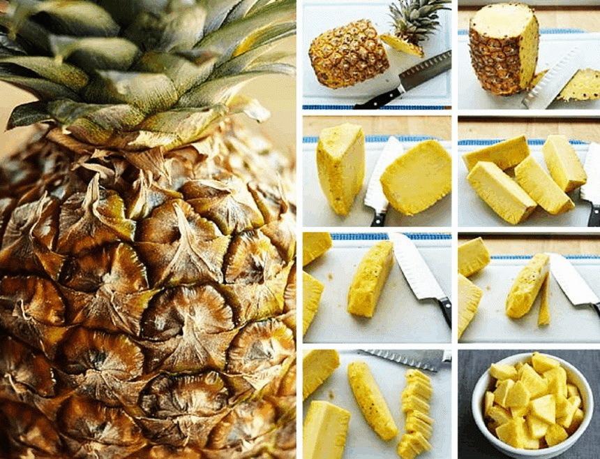 Cut a pineapple