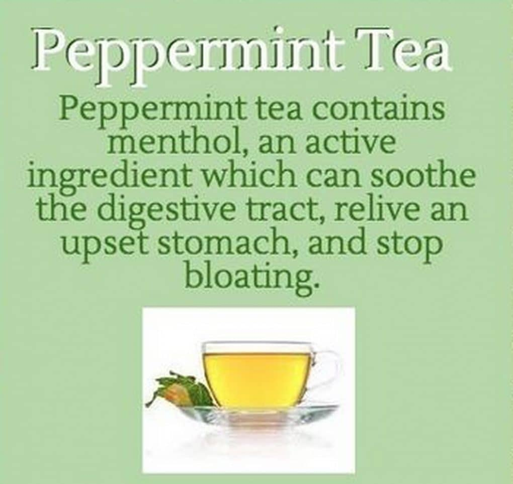 Peppermint tea bloating