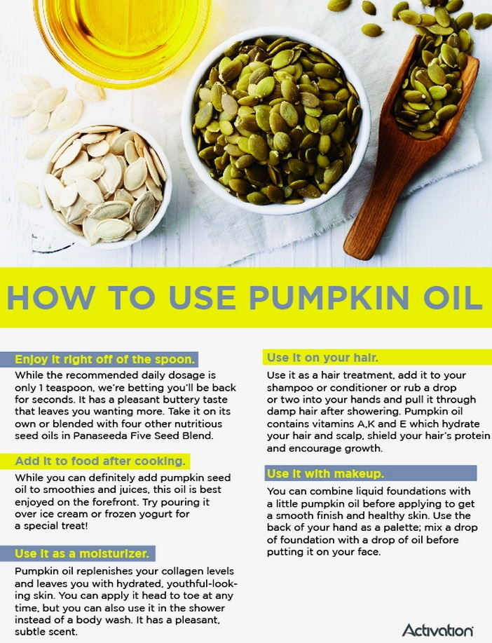 Pumpkin seed oil uses