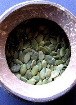 Pumpkin seeds bowl