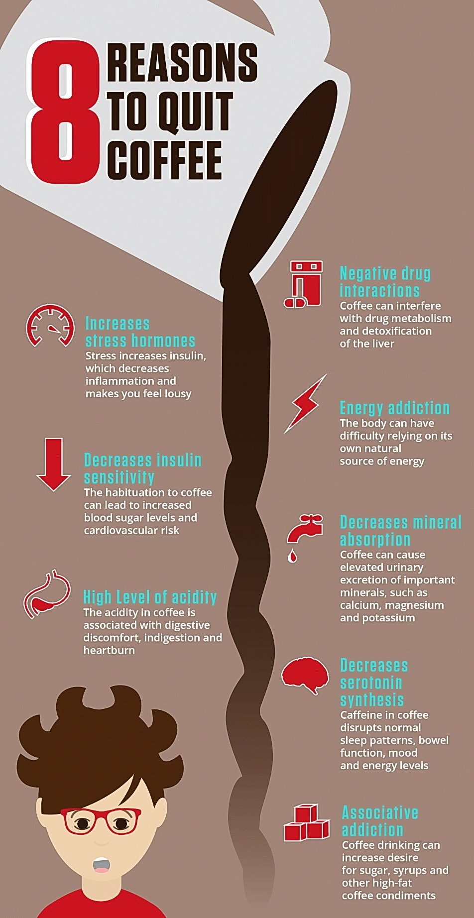 Reasons to stop drinking coffee